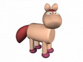 Cartoon foal 3d model