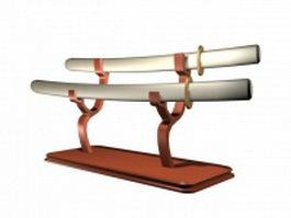 Decoration saber swords 3d model