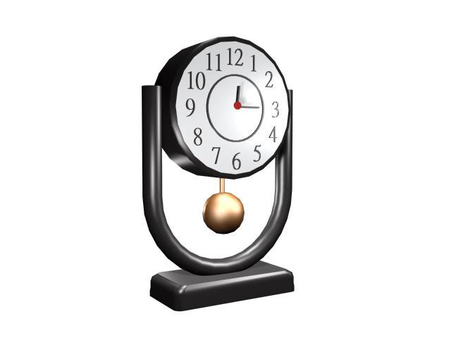 modern desk clock 3d model - Designer Desk Clock