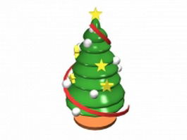 Decorative mini christmas tree 3d model