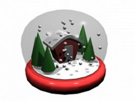 Christmas crystal ball 3d model