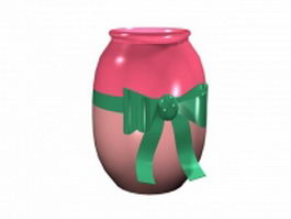 Handmade ceramic bottle 3d model