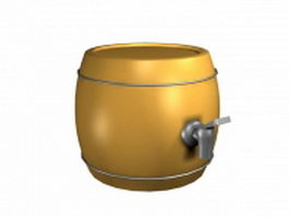 Decoration barrel 3d model