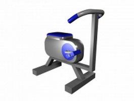 Gym exercise bike 3d model