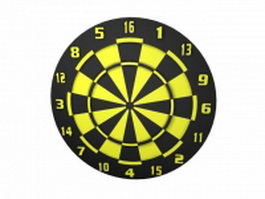 Two sided dart board 3d preview