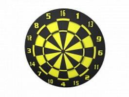 Two sided dart board 3d model