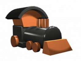 Cartoon toy locomotive 3d model