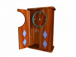Wall cabinet clock 3d model