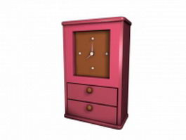 Clock box with drawer 3d model