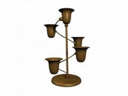 Bronze crafts cups lamp 3d model