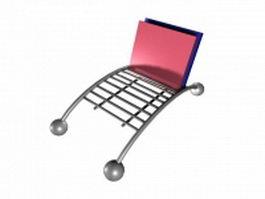 Metal folder holder 3d model