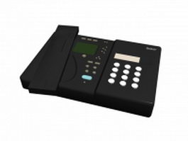 Sony fax machine 3d model