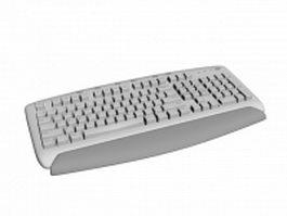 107-key windows keyboard 3d preview