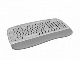 Ergonomic keyboard 3d model