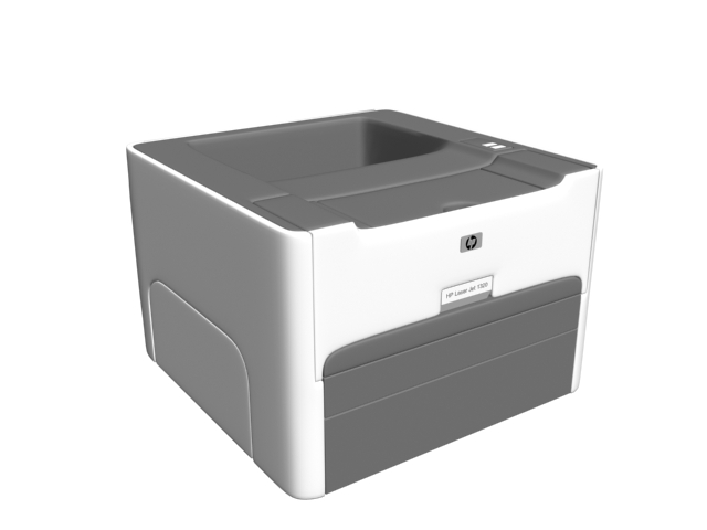 Hp Laser Jet Printer 3d Model 3dsmax Files Free Download