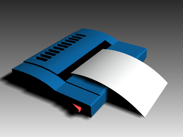 Simple fax machine 3d model 3dsMax,3ds,AutoCAD files free ...