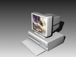 Horizontal desktop personal computer 3d model