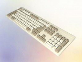 IBM PC keyboard 3d model