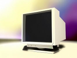 CRT computer monitor 3d model