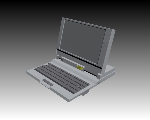 mac laptop 3d model free download