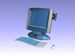 All-in-one desktop computer 3d model