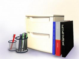 Office stationery set 3d model