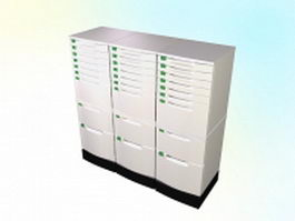 Office index card cabinet 3d model