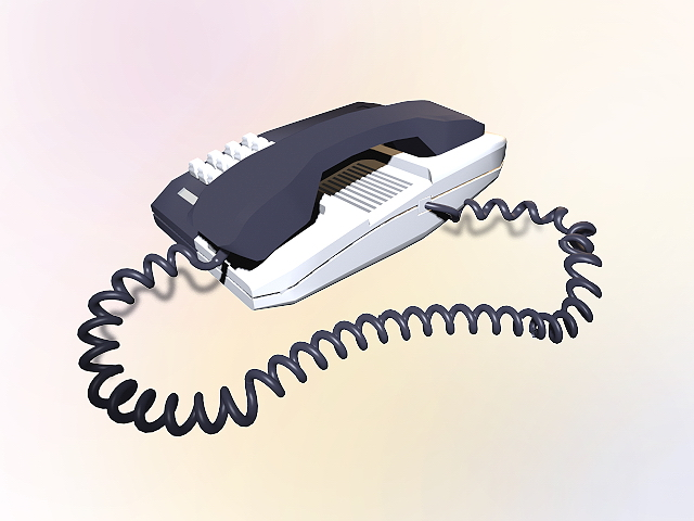 Desktop telephone 3d model