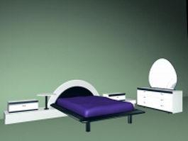 Modern bedroom furniture sets 3d model