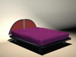 Purple modern bed 3d model