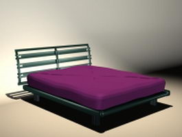 Mission style soft bed 3d model