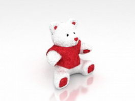 Cartoon toy bear 3d model