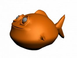 Cartoon fish character 3d model