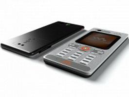 Sony Ericsson W880i mobile 3d model