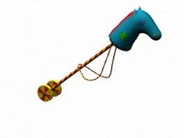 Toy horse stick 3d model