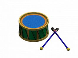 Toy drum for kids 3d model