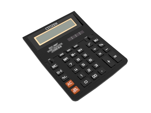 Citizen calculator 3d rendering