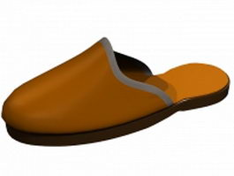 Closed toe terry slipper 3d model