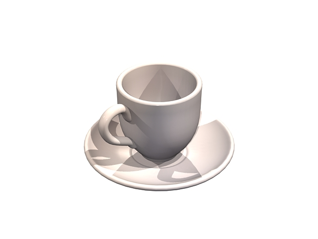 Coffee cup with saucer 3d model 3dsMax files free download
