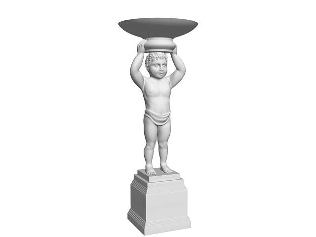 Boy sculpture 3d model