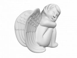 Sleeping angel statue 3d model