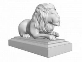 Statue of a lion 3d model