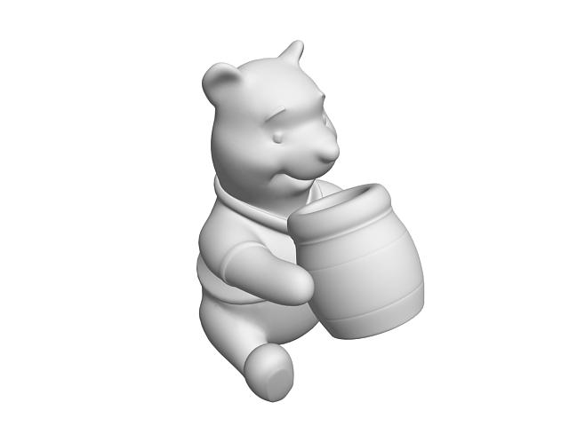 Cartoon bear statue 3d model - CadNav
