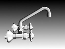 Traditional kitchen faucet 3d model