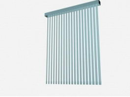 Stationary vertical blinds 3d model