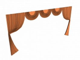 Swagged valance 3d model