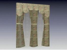 Drapery fabric curtain 3d model