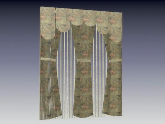 Drapery Fabric Curtain 3d Model 3dsmax 3ds Files Free