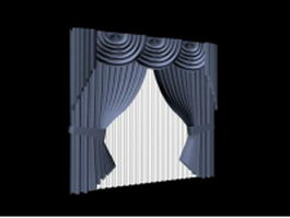 Window treatments design 3d model