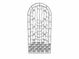 Ornamental gate inserts 3d model